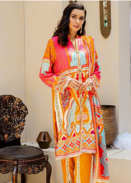 Zellbury Printed Viscose Unstitched 3 Piece Suit ZB20W ZWC3-531 - Winter Collection