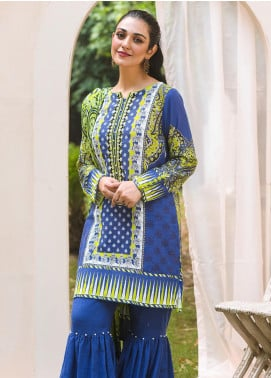 Zellbury Embroidered Khaddar Unstitched 3 Piece Suit ZB20W ZWC3-536 - Winter Collection
