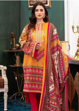Zellbury Embroidered Khaddar Unstitched 3 Piece Suit ZB20W ZWC3-538 - Winter Collection