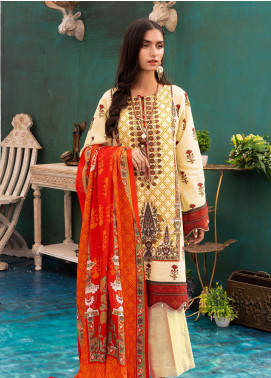 Zellbury Embroidered Khaddar Unstitched 3 Piece Suit ZB20W ZWC3-539 - Winter Collection
