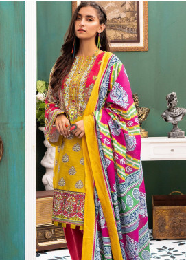 Zellbury Printed Khaddar Unstitched 3 Piece Suit ZB20W ZWC3-541 - Winter Collection