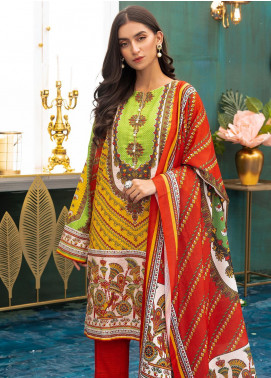 Zellbury Printed Khaddar Unstitched 3 Piece Suit ZB20W ZWC3-542 - Winter Collection