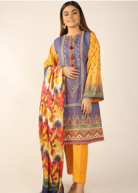 Zellbury Embroidered Khaddar Unstitched 3 Piece Suit ZB20W ZWC3-544 - Winter Collection