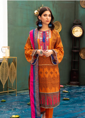 Zellbury Embroidered Khaddar Unstitched 3 Piece Suit ZB20W ZWC3-546 - Winter Collection