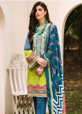 Zellbury Embroidered Khaddar Unstitched 3 Piece Suit ZB20W ZWC3-549 - Winter Collection