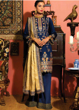 Zinnia by Rang Rasiya Embroidered Cottel Linen Unstitched 3 Piece Suit RR20Z 147 - Winter Collection