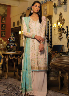 Zinnia by Rang Rasiya Embroidered Cottel Linen Unstitched 3 Piece Suit RR20Z 148 - Winter Collection