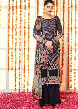 Zinnia by Rang Rasiya Embroidered Lawn Unstitched 3 Piece Suit ZRR20F 60021 A - Festive Collection
