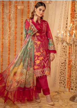 Zinnia by Rang Rasiya Embroidered Lawn Unstitched 3 Piece Suit ZRR20F 60021 B - Festive Collection