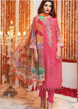 Zinnia by Rang Rasiya Embroidered Lawn Unstitched 3 Piece Suit ZRR20F 60022 B - Festive Collection
