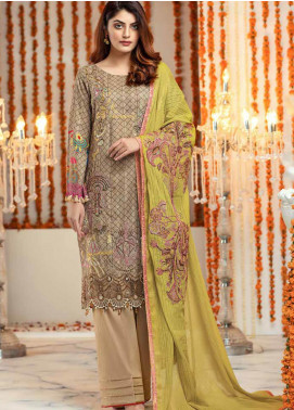 Zinnia by Rang Rasiya Embroidered Lawn Unstitched 3 Piece Suit ZRR20F 60024 A - Festive Collection