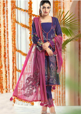 Zinnia by Rang Rasiya Embroidered Lawn Unstitched 3 Piece Suit ZRR20F 60024 B - Festive Collection