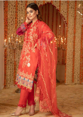 Zinnia by Rang Rasiya Embroidered Lawn Unstitched 3 Piece Suit ZRR20F 60026 A - Festive Collection