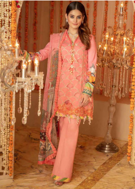 Zinnia by Rang Rasiya Embroidered Lawn Unstitched 3 Piece Suit ZRR20F 60029 A - Festive Collection