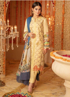Zinnia by Rang Rasiya Embroidered Lawn Unstitched 3 Piece Suit ZRR20F 60029 B - Festive Collection