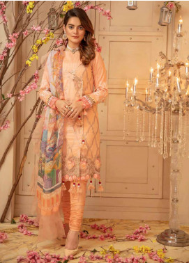 Zinnia by Rang Rasiya Embroidered Lawn Unstitched 3 Piece Suit ZRR20F 60030 B - Festive Collection