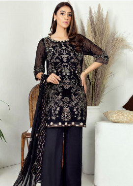 Zirwa by Febura Embroidered Chiffon Unstitched 3 Piece Suit FB20Z 05 - Luxury Collection