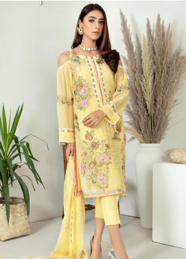 Zirwa by Febura Embroidered Chiffon Unstitched 3 Piece Suit FB20Z 06 - Luxury Collection