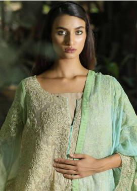 Zunuj Embroidered Cotton Net Unstitched 3 Piece Suit ZJ18F 04 - Eid Collection