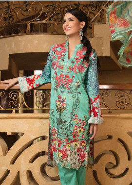 Zara Khan Embroidered Lawn Unstitched 3 Piece Suit ZK18L 09 - Spring Collection