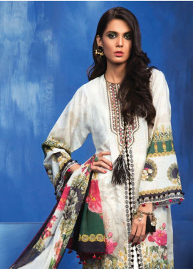 Zaha by Khadijah Shah Embroidered Lawn Unstitched 3 Piece Suit ZKS18L 15A - Summer Collection