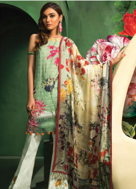 Zaha by Khadijah Shah Embroidered Lawn Unstitched 3 Piece Suit ZKS18L 19B - Summer Collection