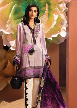 Zaha by Khadijah Shah Embroidered Lawn Unstitched 3 Piece Suit ZKS18L 20B - Summer Collection