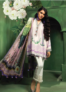 Zaha by Khadijah Shah Embroidered Lawn Unstitched 3 Piece Suit ZKS18L 22B - Summer Collection