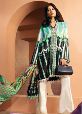 Zaha by Khadijah Shah Embroidered Lawn Unstitched 3 Piece Suit ZKS18L 25B - Summer Collection