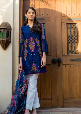 Veena Durrani Embroidered Chiffon Unstitched 2 Piece Suit ZO17C1 12A