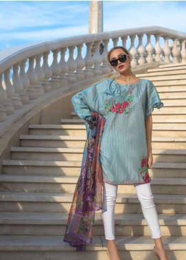 Veena Durrani Embroidered Chiffon Unstitched 2 Piece Suit ZO17C1 8A
