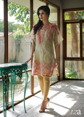 Veena Durrani Embroidered Organza Unstitched Kurtis ZO17C 12A