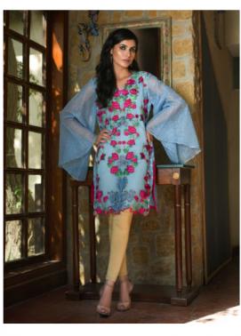 Veena Durrani Embroidered Organza Unstitched Kurtis ZO17C 3A