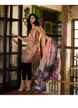 Veena Durrani Embroidered Chiffon Unstitched 2 Piece Suit ZO17C 7A