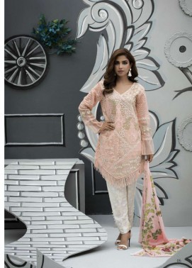 Veena Durrani Embroidered Lawn Unstitched 2 Piece Suit ZO17T4 01