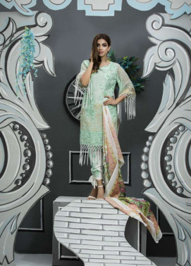 Veena Durrani Embroidered Lawn Unstitched 2 Piece Suit ZO17T4 03