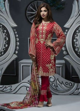 Veena Durrani Embroidered Lawn Unstitched 2 Piece Suit ZO17T4 06