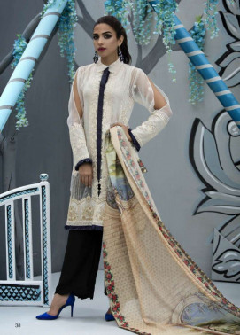 Veena Durrani Embroidered Lawn Unstitched 2 Piece Suit ZO17T4 10