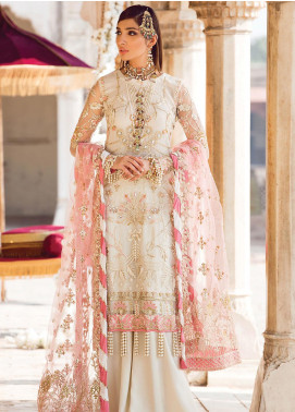 Zohra by Gulaal Embroidered Net Unstitched 3 Piece Suit GL19WE 04 NEHA - Wedding Collection