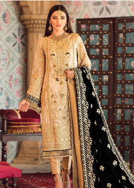 Zohra by Gulaal Embroidered Zari Net Unstitched 3 Piece Suit GL19WE 05 SHEHRNAZ - Wedding Collection