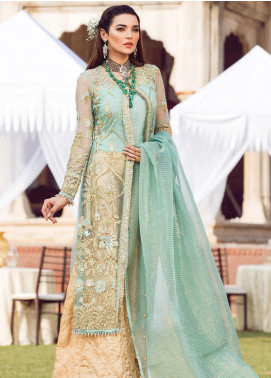 Zohra by Gulaal Embroidered Net Unstitched 3 Piece Suit GL19WE 08 MEHERBANO - Wedding Collection