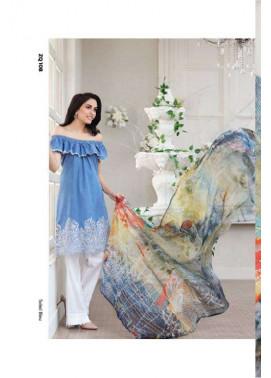 Zarqash Embroidered Lawn Unstitched 3 Piece Suit ZQ17L 10B