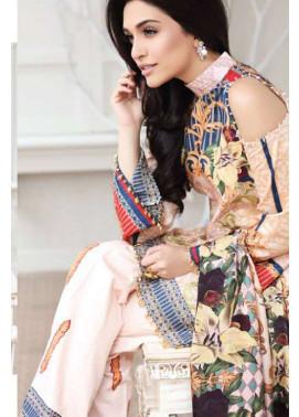 Zarqash Embroidered Lawn Unstitched 3 Piece Suit ZQ17L 1B
