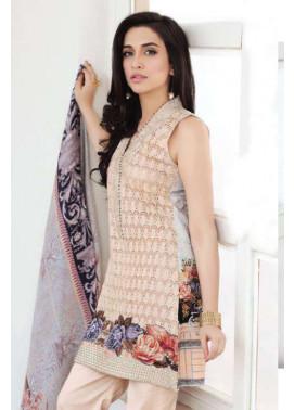 Zarqash Embroidered Lawn Unstitched 3 Piece Suit ZQ17L 2B
