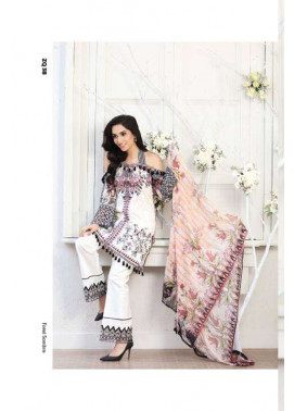 Zarqash Embroidered Lawn Unstitched 3 Piece Suit ZQ17L 3B