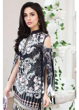 Zarqash Embroidered Lawn Unstitched 3 Piece Suit ZQ17L 6A