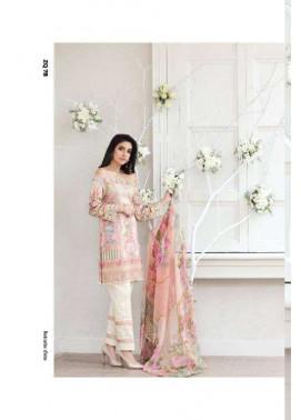Zarqash Embroidered Lawn Unstitched 3 Piece Suit ZQ17L 7B