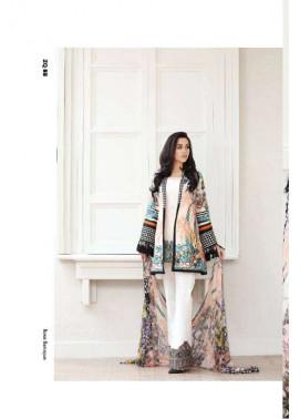 Zarqash Embroidered Lawn Unstitched 3 Piece Suit ZQ17L 8B