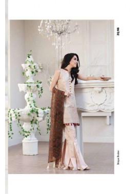 Zarqash Embroidered Lawn Unstitched 3 Piece Suit ZQ17L 9B