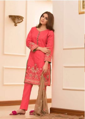 Maira Ahsan Embroidered Lawn Unstitched 3 Piece Suit MA18L 07 - Spring / Summer Collection